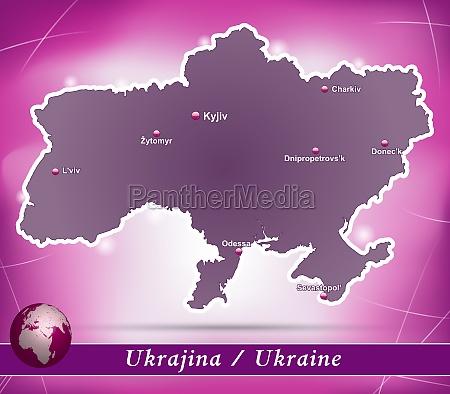 karte von ukraine abstrakter hintergrund in
