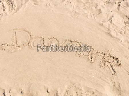 danmark in sand geschrieben