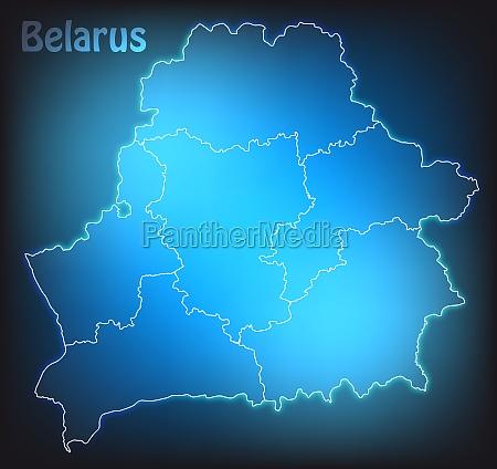 karte von weissrussland mit grenzen in