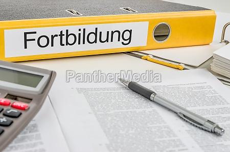 file folders labeled training