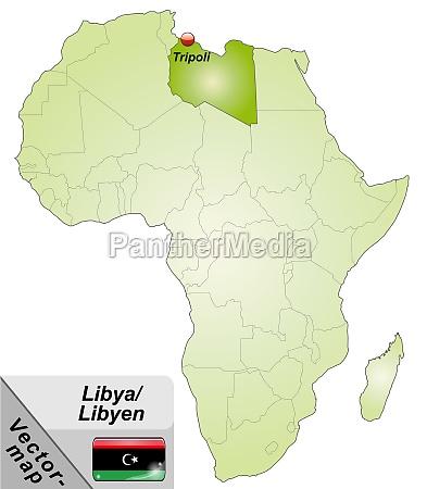 karte von libyen mit hauptstaedten in