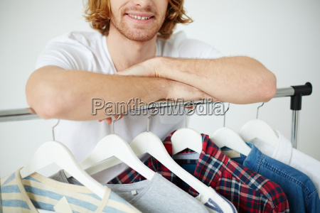 man with different shirts