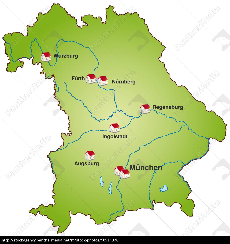 Karte Von Bayern