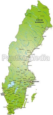 karte von schweden als UEbersichtskarte in