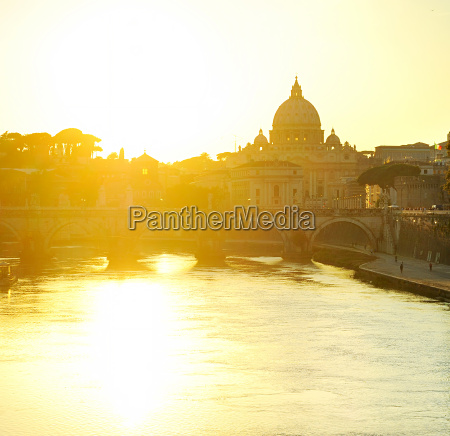 tiber and st peters cathedral