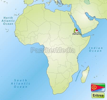 karte von eritrea mit hauptstaedten in