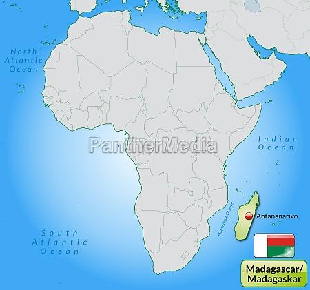 Madagaskar Karte.Bildagentur Panthermedia 10929272