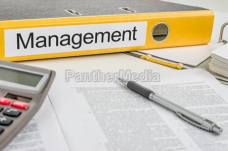 file folder with the caption management