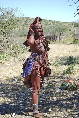 himba frau native afrikanischen peolple