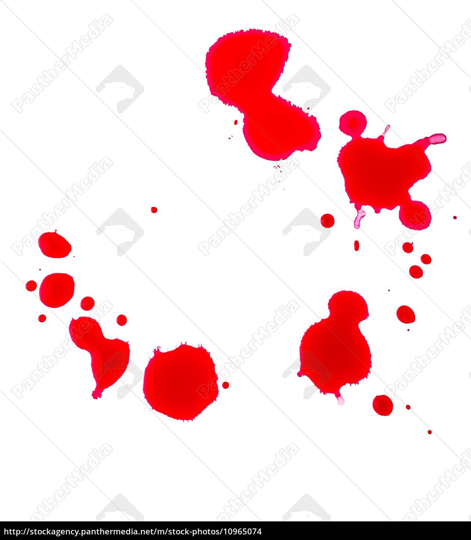 blutstropfen, auf, weißem, hintergrund - 10965074