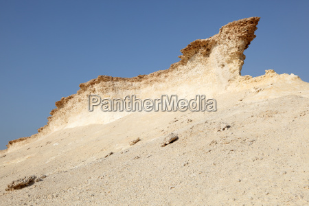 eroded rocks in the desert of