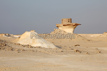 fort in the desert of qatar