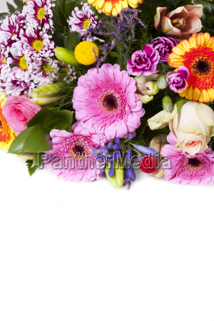 colorful bouquet of beautiful flowers with