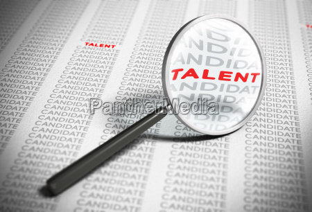 searching for talents recruitment concept