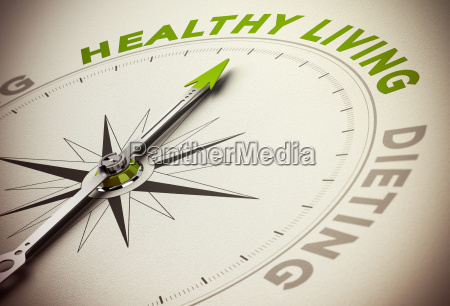 healthy life style vs diet concept