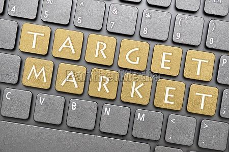 zielmarkt auf der tastatur