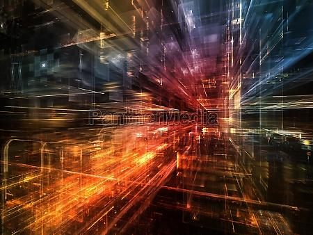 virtuelles leben der stadt