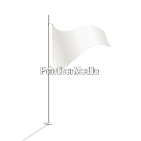 white flag vector illustration