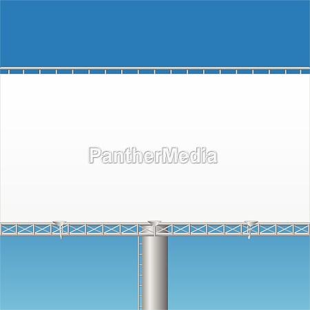 blank billboard vector illustration