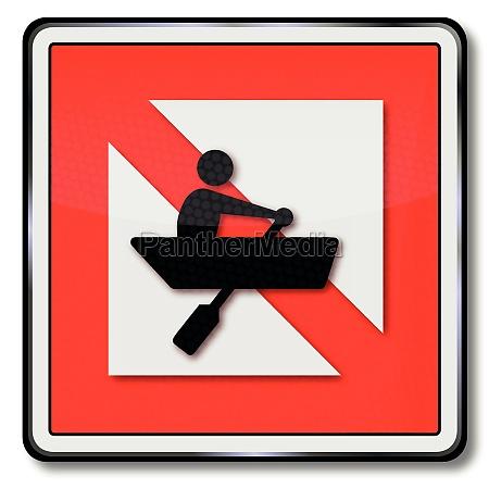 schifffahrtszeichen ban for rowing