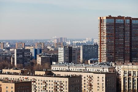 stadt skyline von wohnquartieren in der