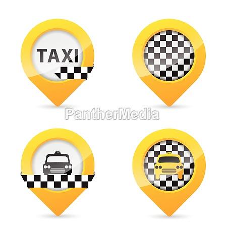 gps zeiger mit dem taxi bestimmte