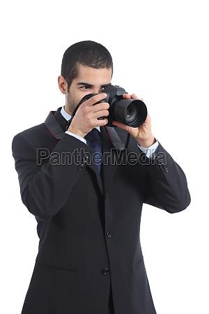professioneller fotograf fotografiert mit einer digitalen