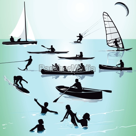water sports and swimming