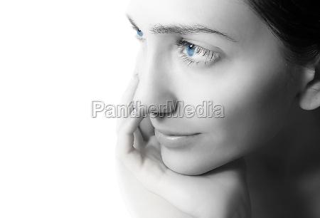 woman close up