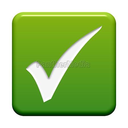 gruener button haken