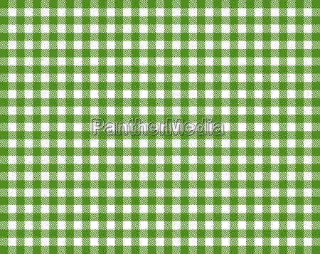 tischdecke mit gruen weissem karomuster