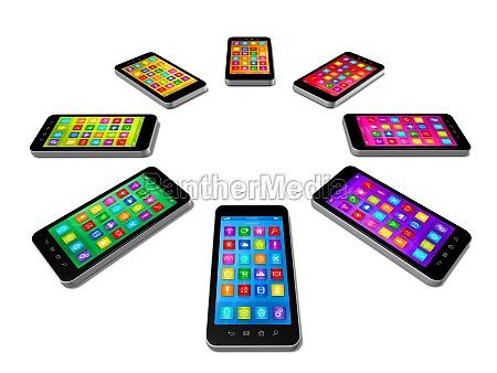 smartphones farben eingestellt