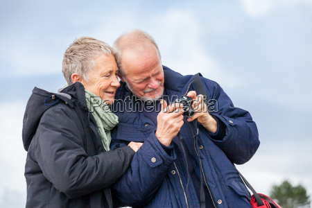 senior adult couple seniors happy while