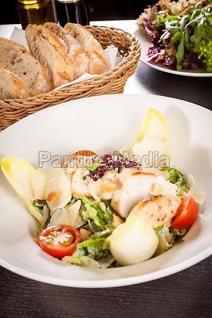 parmesan splinter fresh delicious caesar salad