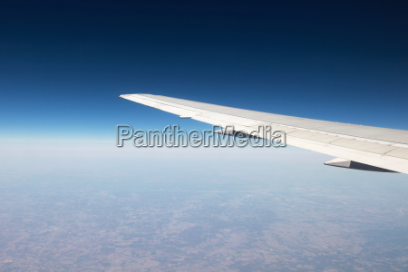 wing of the plane during a