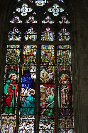 glasfenster von saint gatien kathedrale in