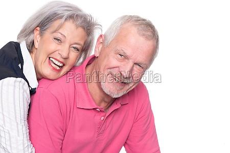 glueckliches seniorenpaar