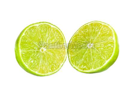 frucht obst halb haelfte zitrusgewaechs limetten
