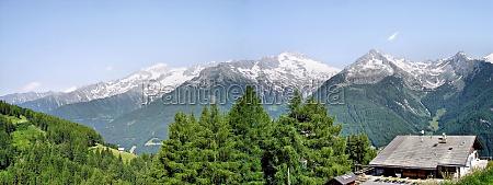 panorama suedseite der zillertaler alpen