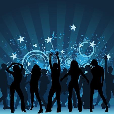 dance party hintergrund