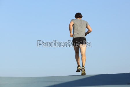 back view of a jogger man