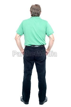 back pose of a senior man