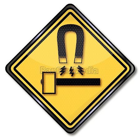 schild, werkzeug, und, geräte, vor, magneten - 11194284