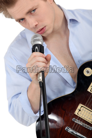 young singer with a guitar