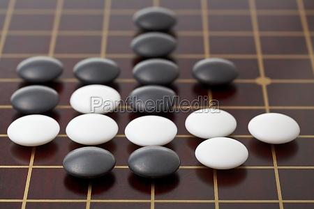 go spiel spielen von steinen auf
