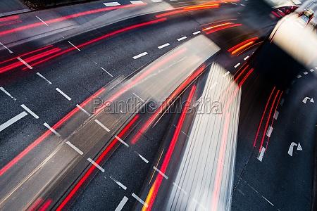 bewegung verwischt stadt strassenverkehr farbe getoent
