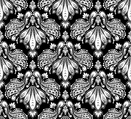 seamless floral ornament