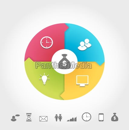set infografik icons minimalen stil