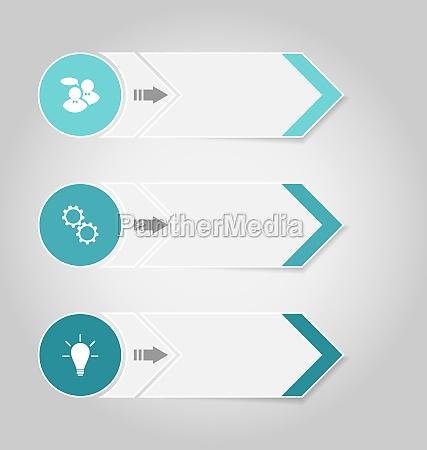 setzen sie moderne designbanner mit infografikelementen