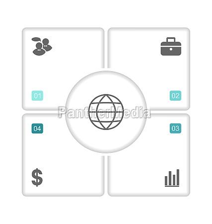 moderne designbroschueren mit infografik icons